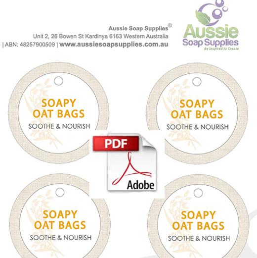 Label PDF - Soapy Oat Labels (Kit)