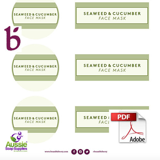 Free Label PDF - BB Seaweed and Cucumber Face Mask