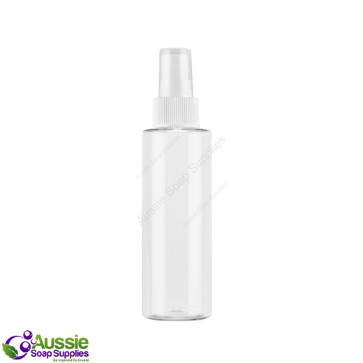 Bottle Clear (Square Shoulder) 150ml - with Spray Closure (SECONDS)