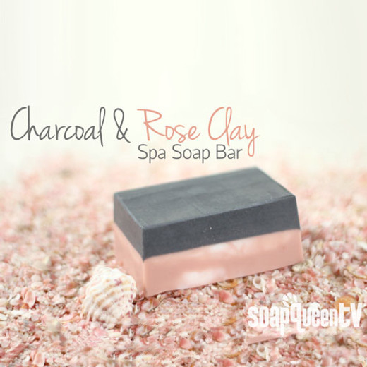 Charcoal and Rose Clay Spa Bar