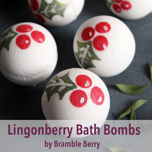 Lingonberry Spice Bath Bombs Project by Bramble Berry