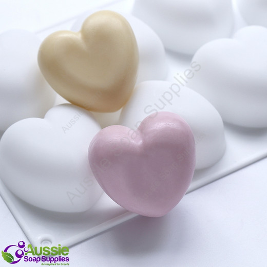 Flexible Mould -  8 Hearts, Rounded