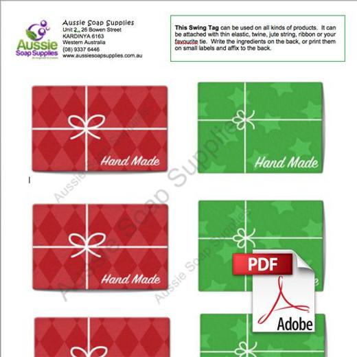 Xmas Tag Label PDF - Christmas Parcels