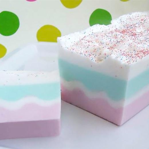Birthday Cake Soap Loaf Tutorial