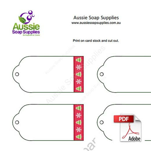 Gift Tag Label PDF - Christmas Border