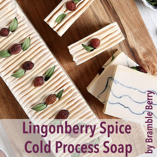 Lingonberry Spice Cold Process Soap by Bramble Berry
