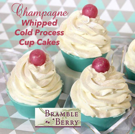 Sparkling Champagne Cold Process Cupcakes