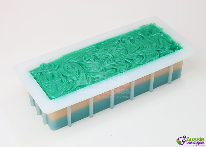 Cucumber Melon Layered Cold Process Soap Loaf