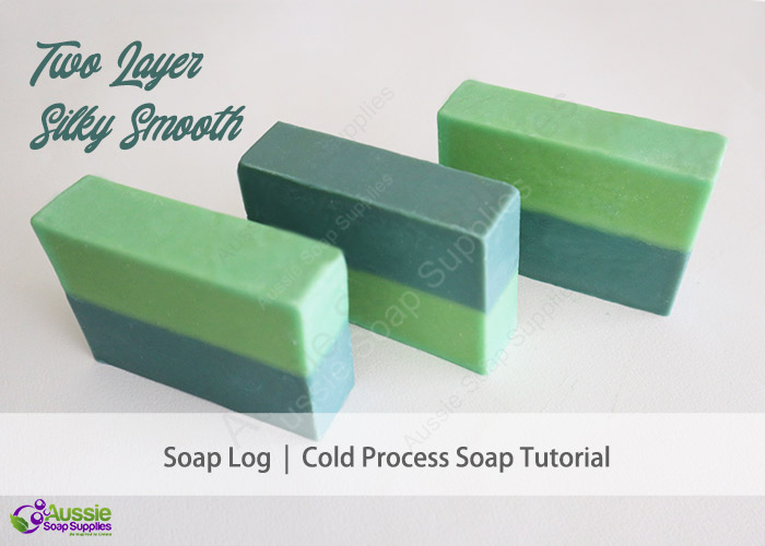 Two Layer Silky Smooth Cold Process Soap Loaf