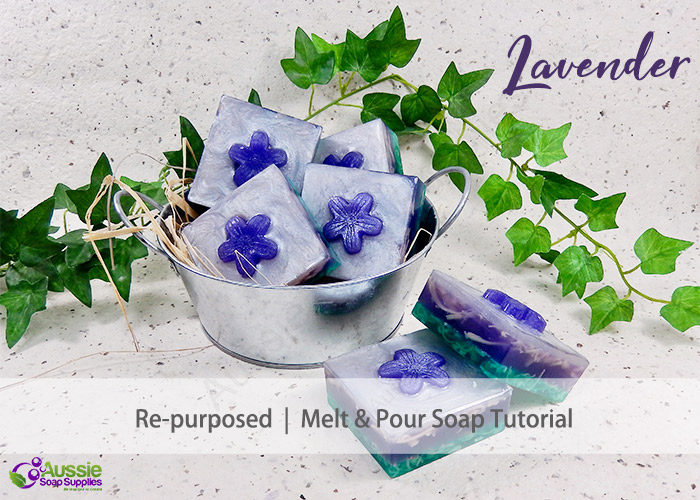 Melt and Pour Lavender and Herb re-purposed soap project