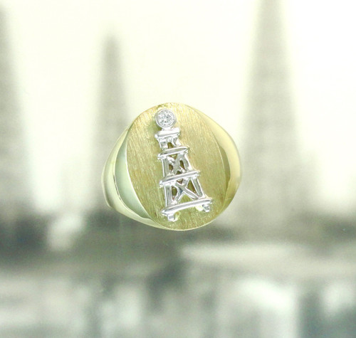 OIL DERRICK RING WITH DIAMOND (sm)
