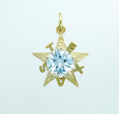 Sky Blue Topaz in the de Zavala pendant