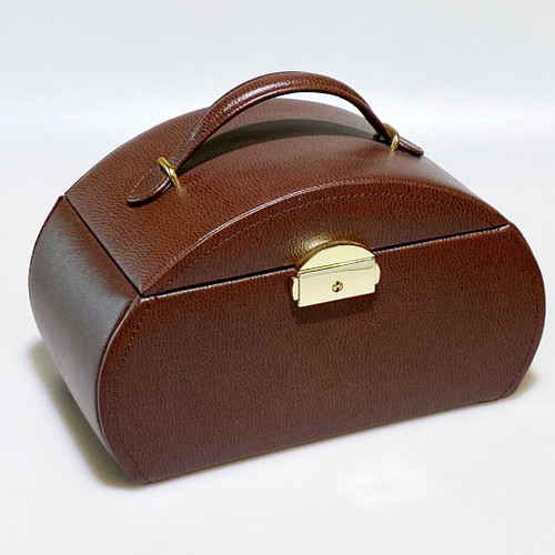 LEATHER TRAVEL JEWELRY CASE RT