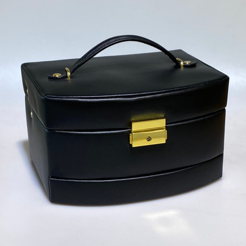 LEATHER TRAVEL JEWELRY CASE EX