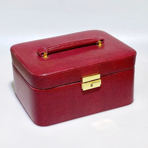 LEATHER TRAVEL JEWELRY CASE RD