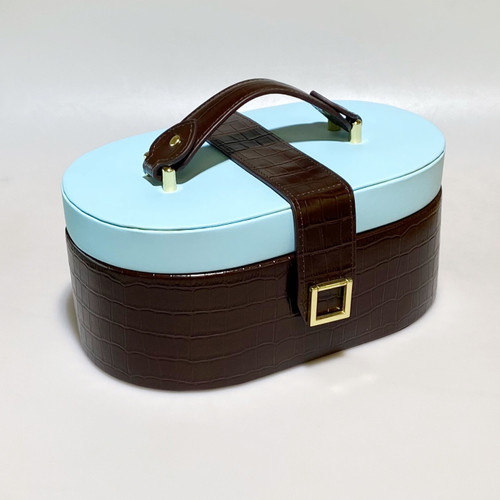 LEATHER TRAVEL JEWELRY CASE BB
