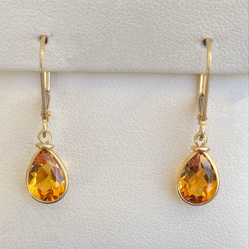 CITRINE EARRINGS (Lever Backs)