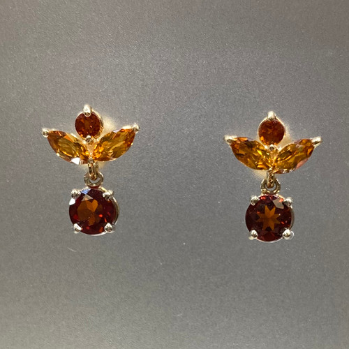 MADEIRA CITRINE DANGLE EARRINGS (S86874)