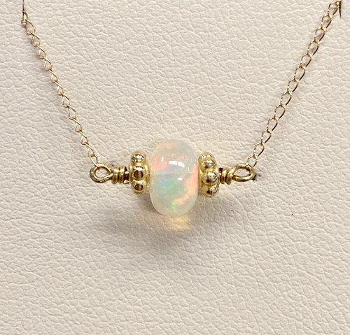 WELO OPAL BEAD NECKLACE (SYGCR)