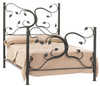 Fair Oak Wrought Iron Bed
