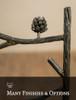 Evergreen Iron Stool