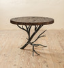 Driftwood Hand-Forged Iron Side Table