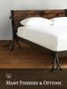 Driftwood Iron Platform Bed