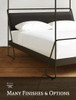Alma Hand Forged Iron Canopy Bed