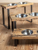 Reclaimed Wood and Iron Dog Feeder
