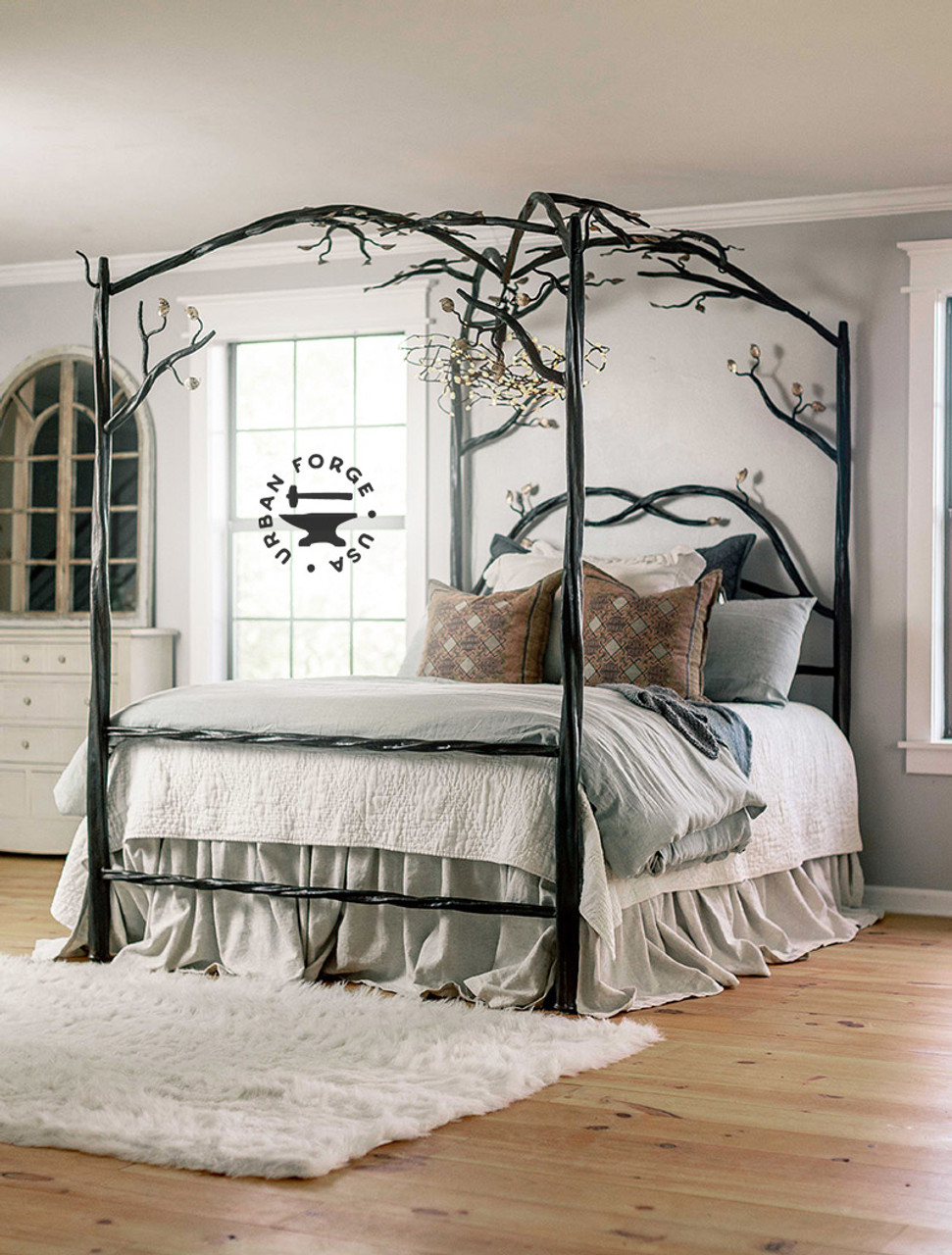 Elm Springs Wrought Iron Canopy Bed Iron Beds By Urban Forge