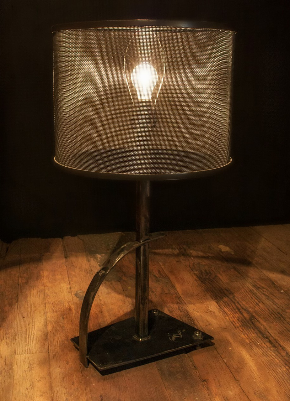 Rustic Wrought Iron Table Lamps.Quarry Table Lamp