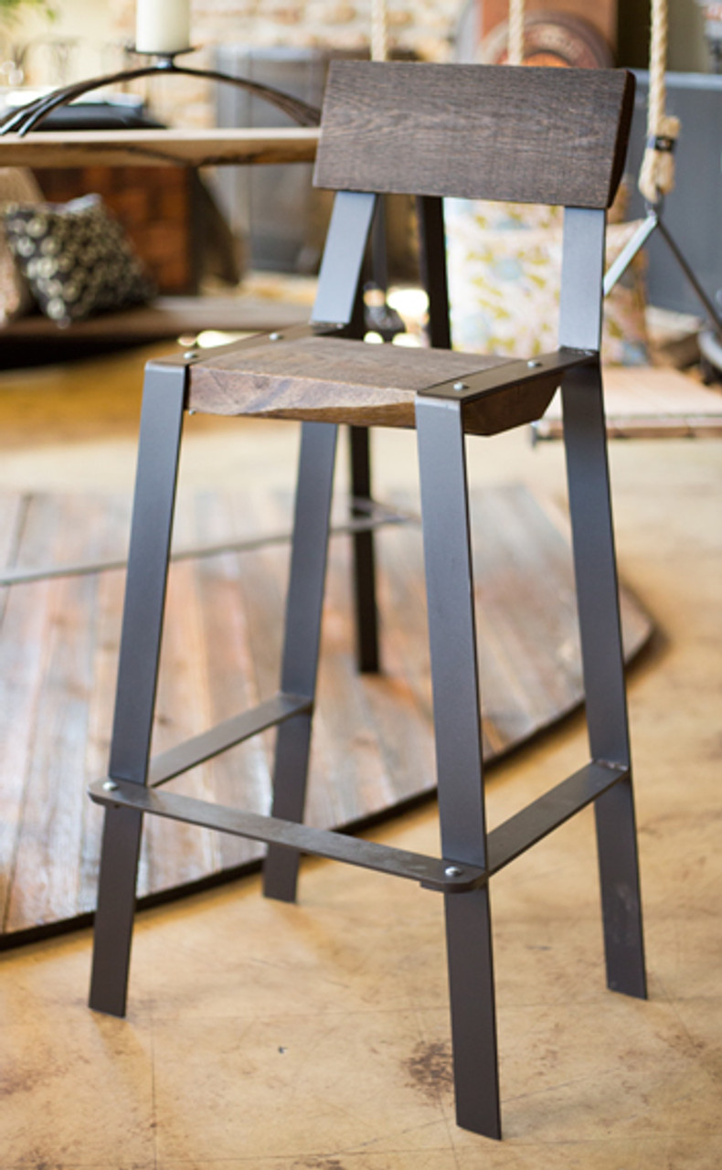 Peachy The 201 Forged Stool With Reclaimed Wood Seat Pdpeps Interior Chair Design Pdpepsorg