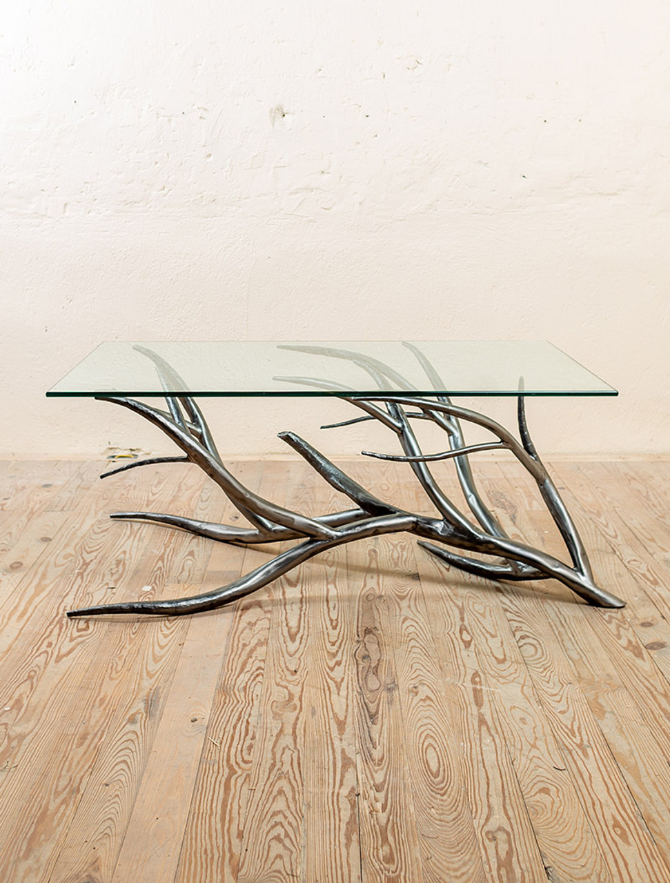 Driftwood Coffee Table.Driftwood Hand Forged Iron Coffee Table