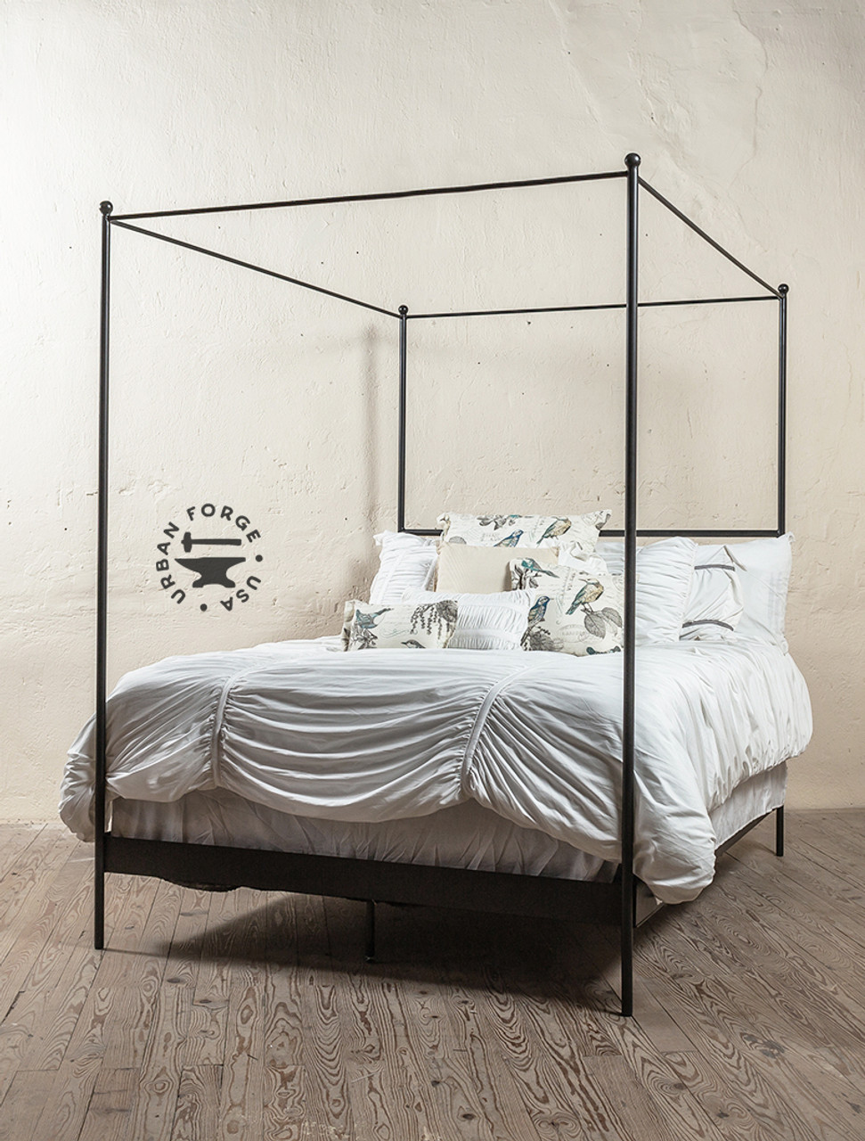 Bird On Wire Wrought Iron Canopy Bed Iron Beds By Urban Forge