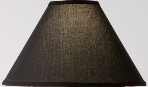 Natural Black Linen Iron Table Lamp Shade 15 inch