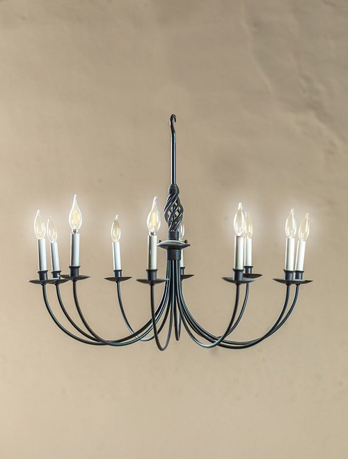 Woven 10 Arm Iron Chandelier