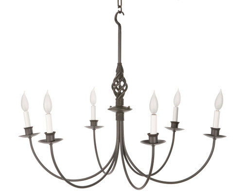 Woven 6 Arm Iron Chandelier