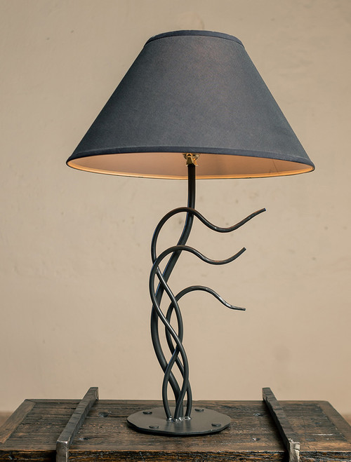 Windblown Iron Table Lamp