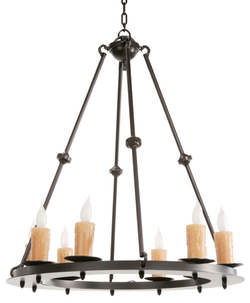 Waldron 8 Light Iron Chandelier