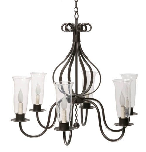 Parkdale Carriage 6 Arm Iron Chandelier