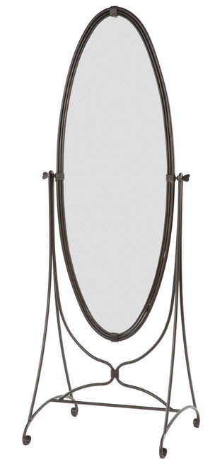 Dyess Standing Oval Iron Mirror