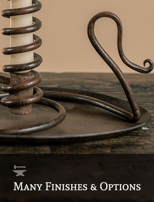 Courting Iron Candle Holder
