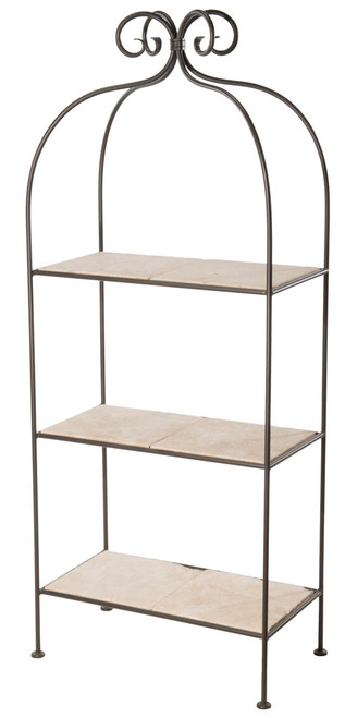 Iron Standing Shelf - Wrapped Scroll - 3 Tier