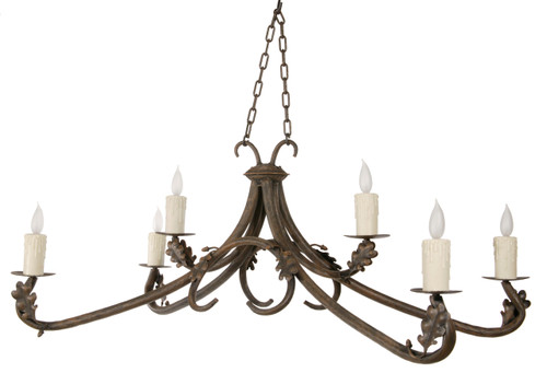 Millwood 6 Iron Arm Chandelier