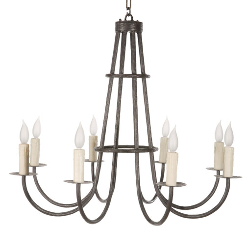 Huntington 8 Arm Iron Chandelier