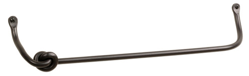 Rose Bud Iron Towel Bar 24 Inch