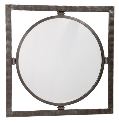 Blackwell Iron Round Wall Mirror