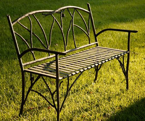 Iron Evergreen Bench 52 inch