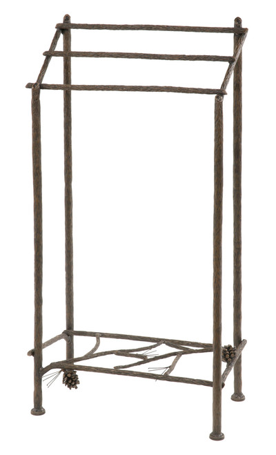 Evergreen Iron Towel Stand