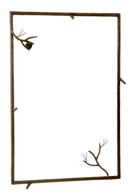 Evergreen Iron Wall Mirror